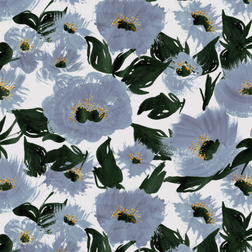 floral print design hand painted