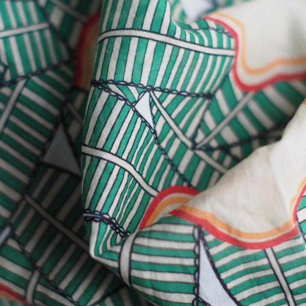 Cotton print by Maison Le Callennec