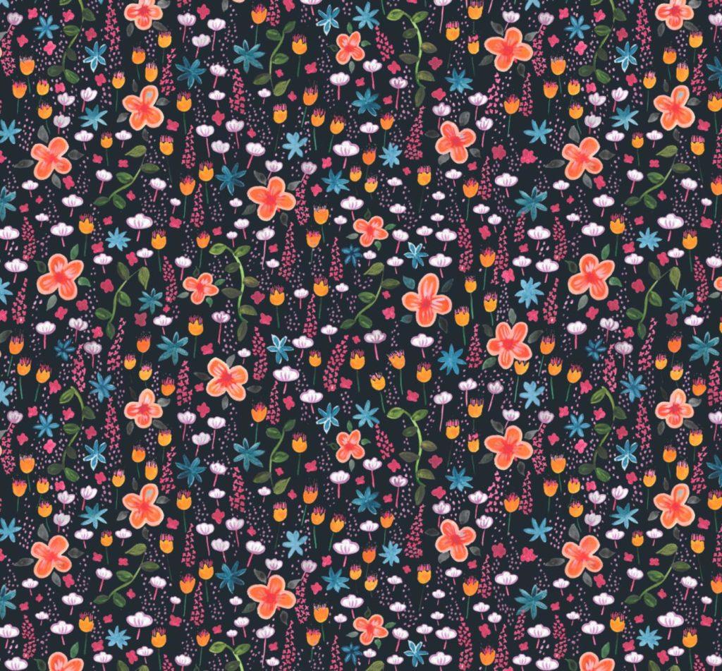naive floral print design
